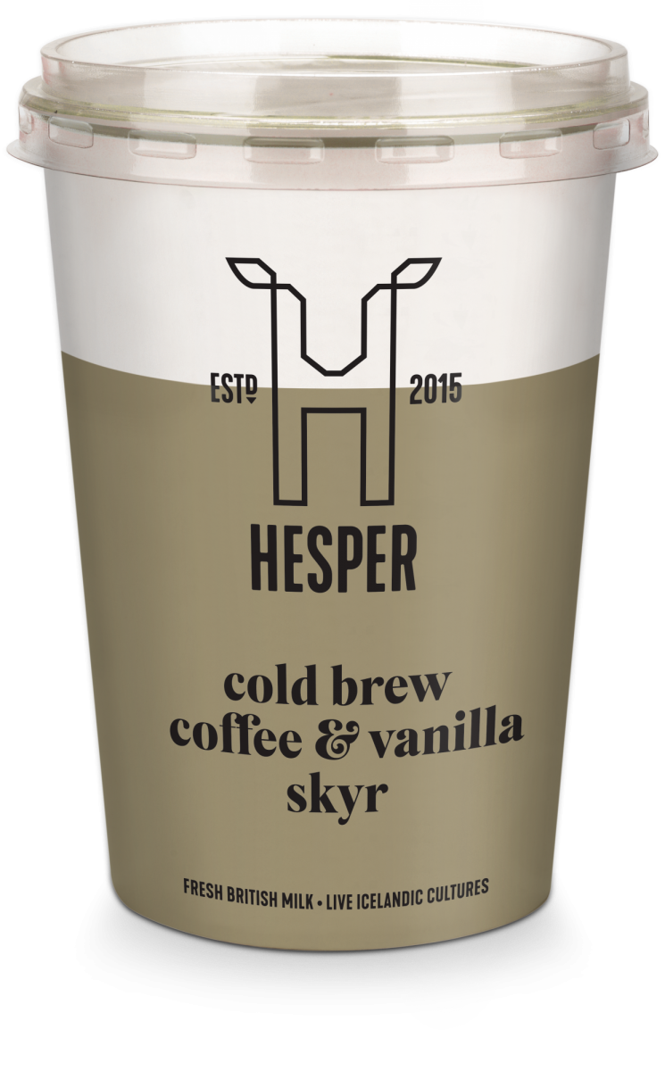 HESPER cold brew coffee and vanilla skyr