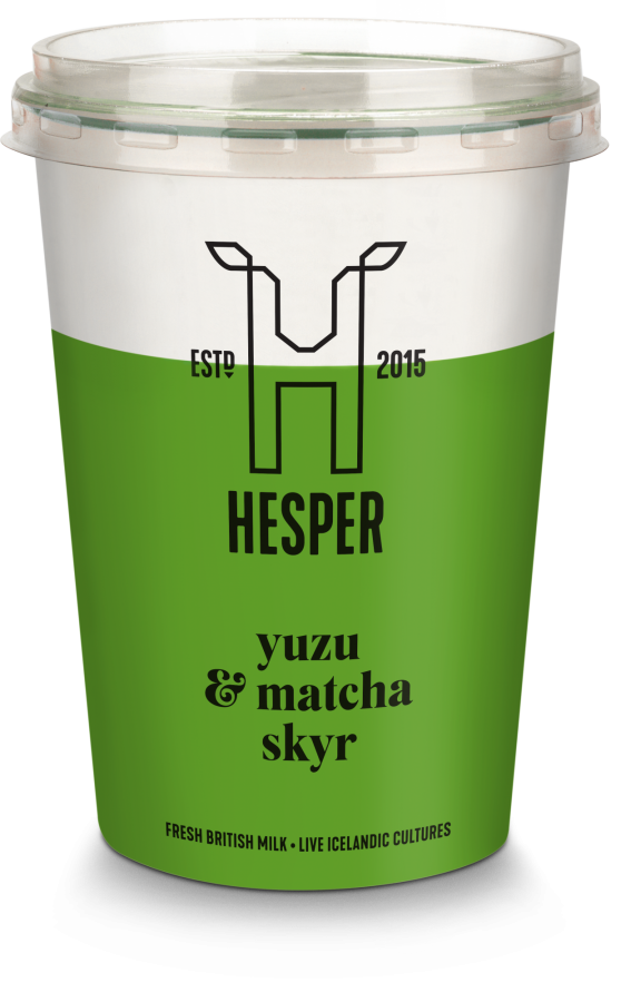 HESPER yuzu and macha skyr