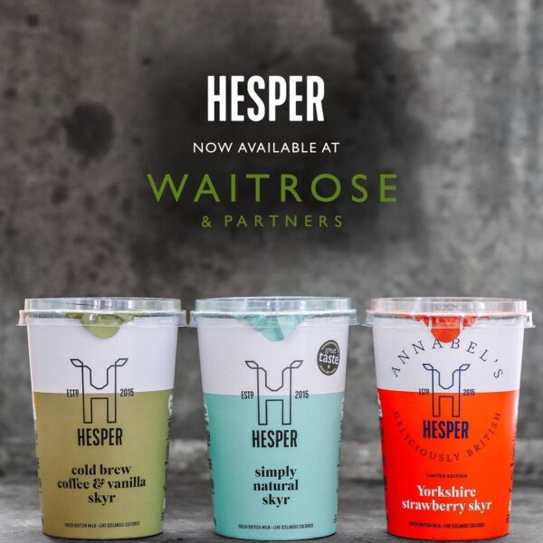 Hesper skyr has hit the shelves of *197*...