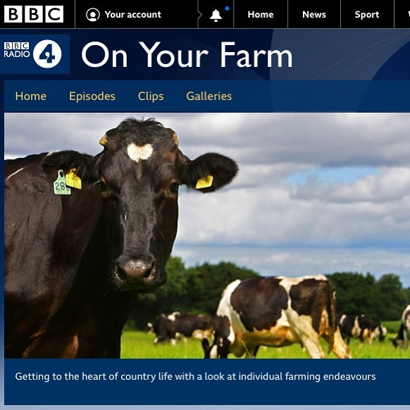 """Our Sam was on @bbcradio4 """"On Your Farm""""..."""