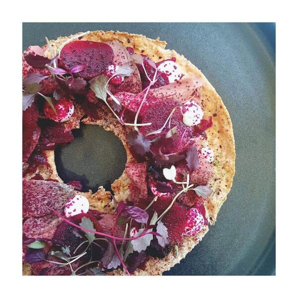 Smoked Wood Pigeon Knackebrod with Beetr...