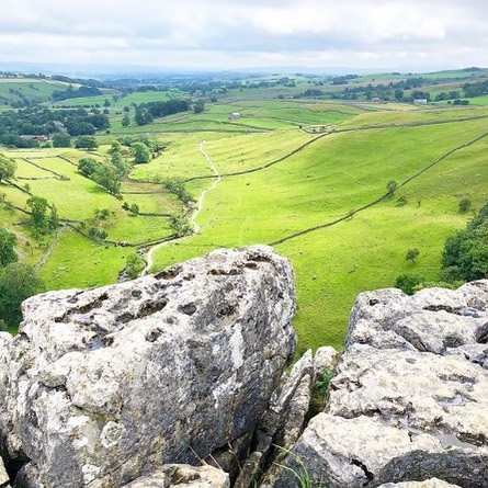 The top of Malham cove looking towards h...